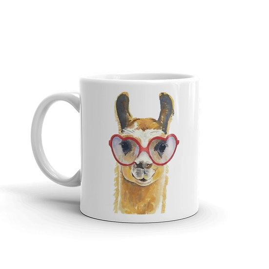 Watercolor Llama Coffee Cup Mug for Coffee / Tea White Ceramic Mugs 11/15 oz1