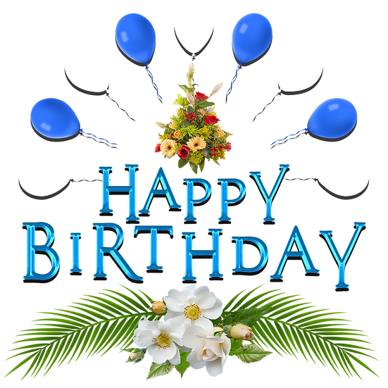 Happy Birthday Hawaii Style PNG Transparent Image - Digital Instant Download