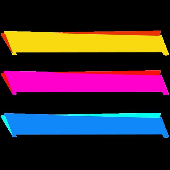 Bright Label Banner - Free PNG Images, Transparent Image Digital Download