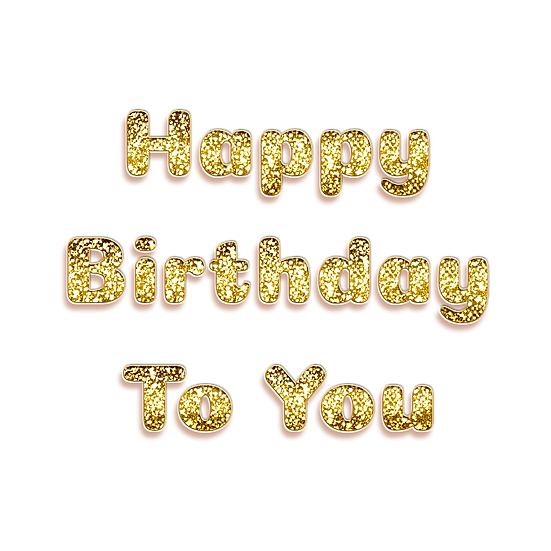 Happy Birthday To You Confetti PNG Transparent Image - Digital Instant Download