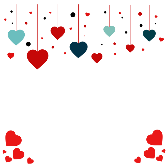 Romantic Frame - Valentine's Day PNG Transparent Image - Instant Download