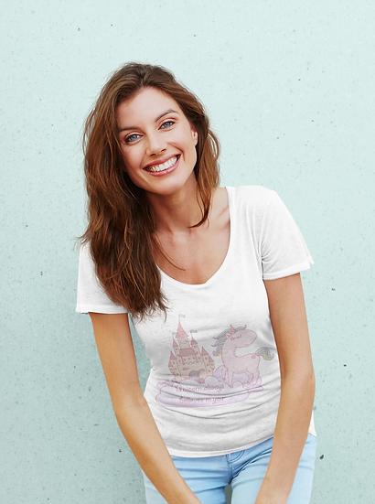 Unicorn Always Believes in You Design Short-Sleeve Women's T-Shirt 11