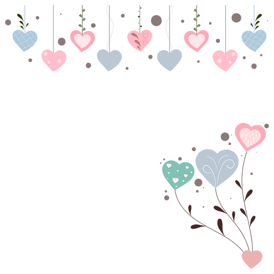 Hearts with Ornaments - Free PNG Images, Transparent Image Instant Download