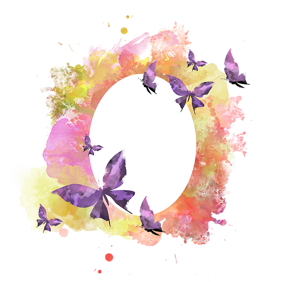 Watercolor Art with Butterflies - Free PNG Transparent Image, Digital Download