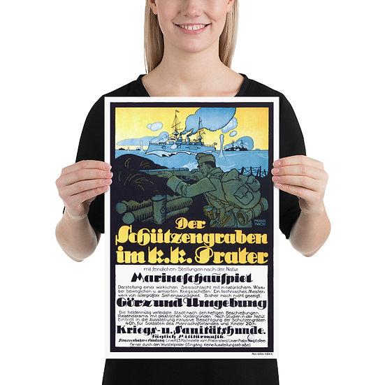 WW1 German Marines Propaganda Poster, WWI Navy Print