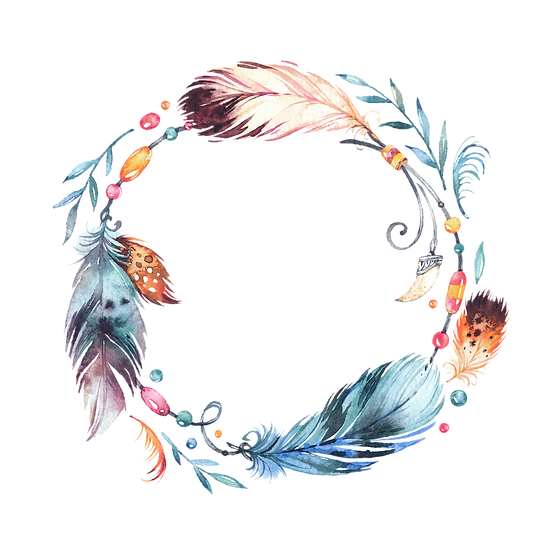 Creative Feathers Circle - Free PNG Images, Transparent Image Digital Download