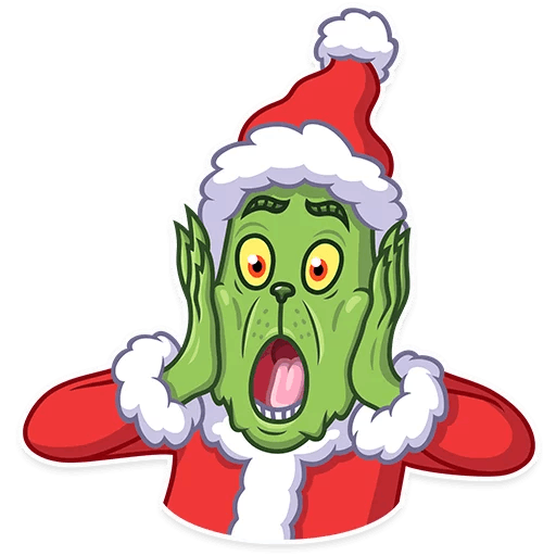 Frightened Xmas Grinch PNG Santa Claus - Free PNG Images Digital Image Download