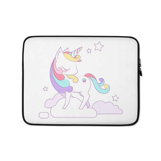 Cute Adorable Unicorn Laptop Sleeve for MacBook, HP, ACER, ASUS, Dell, Lenovo