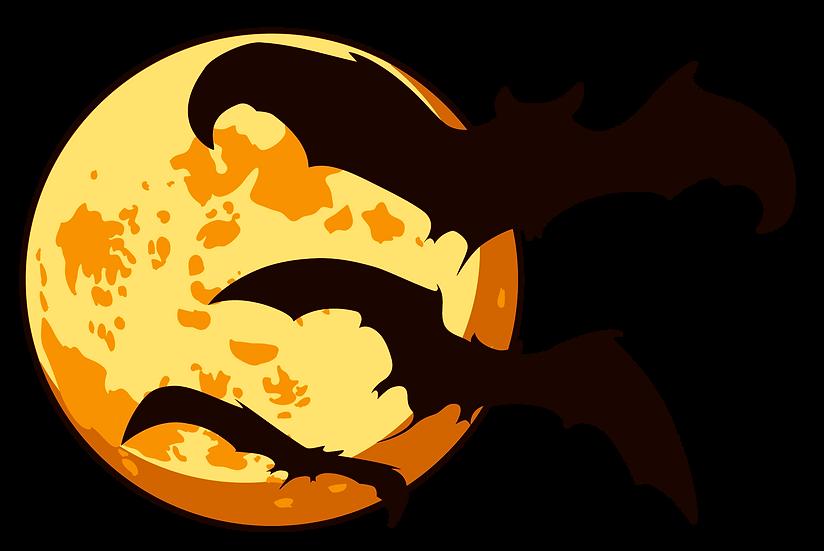 Halloween Bats & Moon Free PNG Images - Free Digital Image Download