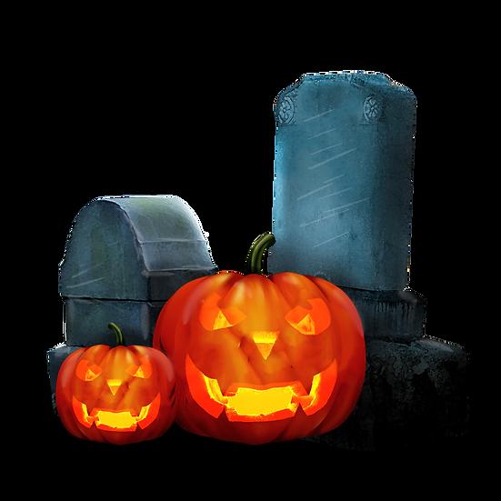 Halloween Pumpkins Printables PNG Image  - Editable / Downloadable