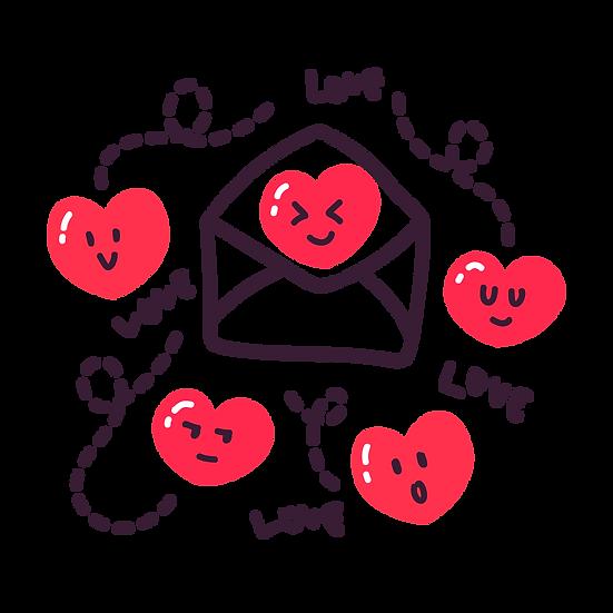 Funny Love Letter - Valentine's Day PNG Transparent Image - Instant Download