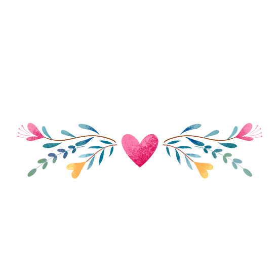 Heart Decoration Clipart - Valentine's Day PNG Image - Instant Download