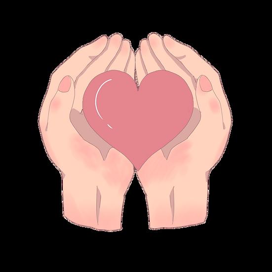 Hands Holding Heart - Free PNG Images, Transparent Image Instant Download