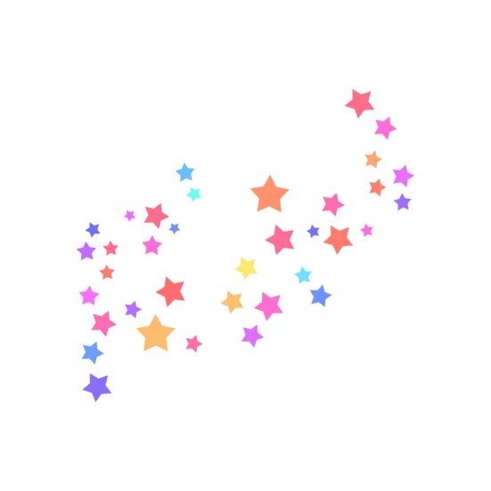 Colored Stars Clipart - Free PNG Images, Transparent Image Instant Download