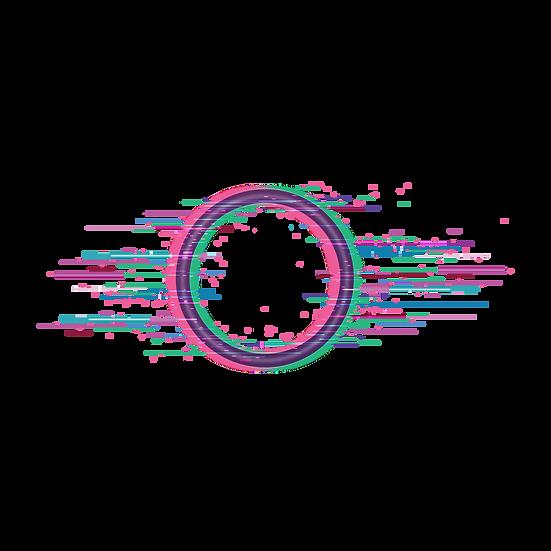 Circle Frame Glitch Effect - Free PNG Images, Transparent Image Digital Download