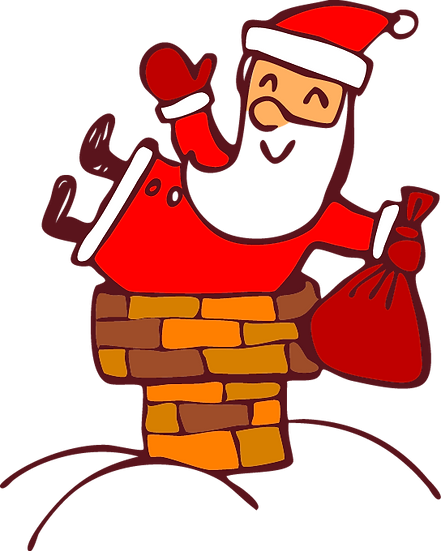 Santa Claus Sneaking into House Free PNG Images - Free Digital Image Download