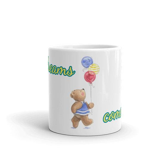 Dreams Come True Watercolor Coffee Cup Mug for Coffee / Tea White Ceramic Mugs 1