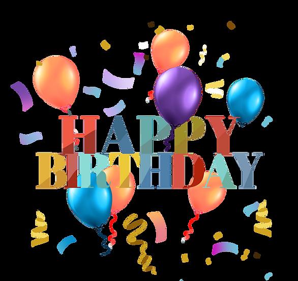 Birthday Greeting Card - PNG Transparent Image - Digital Download