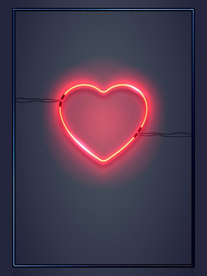 Glowing Heart Background - Free PNG Images, Digital Download