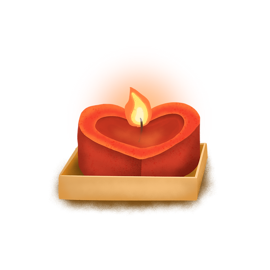 Heart-Shaped Candle - Free PNG Fire Images, Transparent Image Instant Download