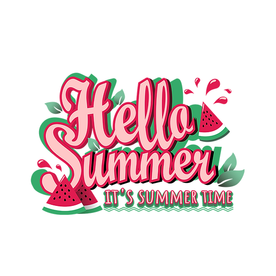 Hello Summer, It's Summer Time - Free PNG Images Digital Download