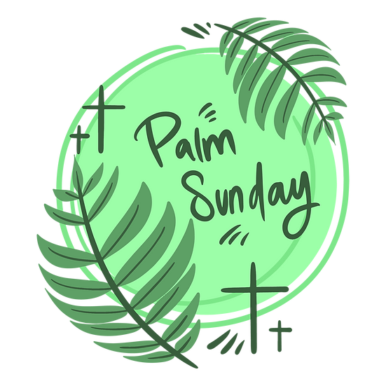 Palm Sunday Green Clipart - Easter PNG Transparent Image - Instant Download