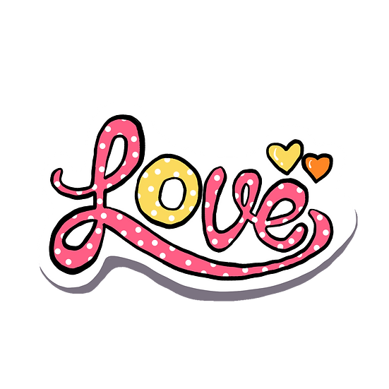 Love - Amazing Clipart - Valentine's Day Transparent Image - Instant Download