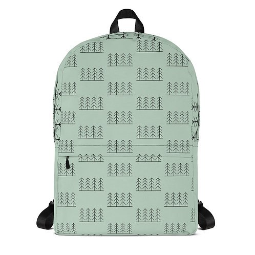 Forest & Fog Treeline All Over Print Backpack
