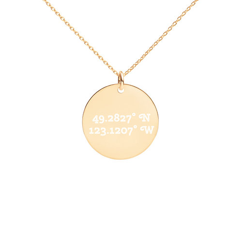 Coordinates: Vancouver Engraved Disc Necklace