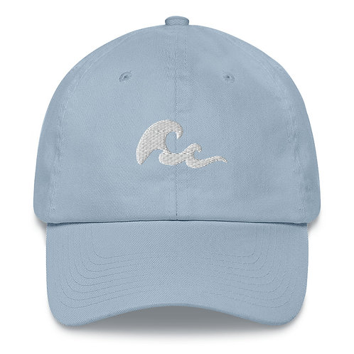 Simple Wave Ocean Embroidered Beach Dad Hat