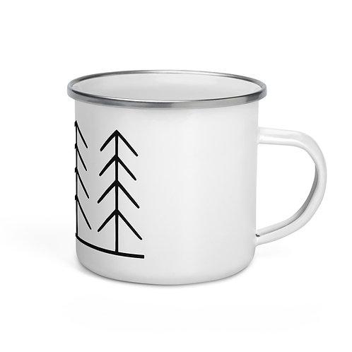 Forest and Fog Treeline Camping Mug