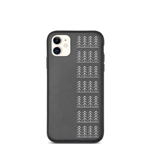 Forest and Fog Verticle Treeline Biodegradable Phone Case