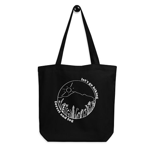 Let's Go Hiking Wildflower Eco Tote Bag