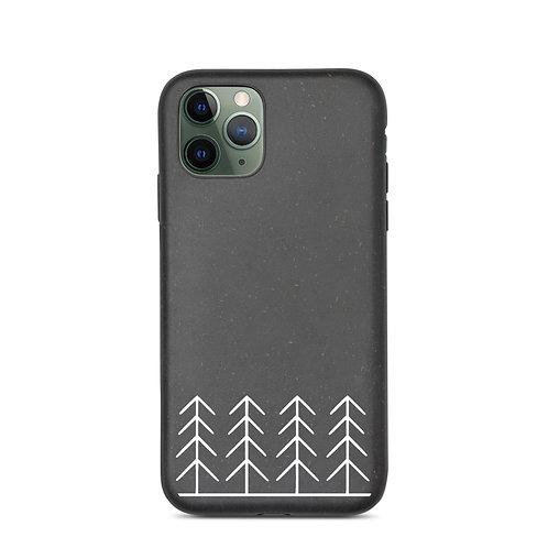 Forest and Fog Treeline Biodegradable Phone Case