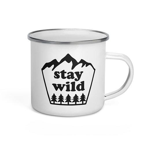 Stay Wild Park Badge Camping Mug