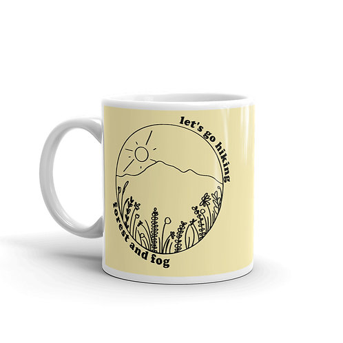 Let's Go Hiking Wildflower Mug