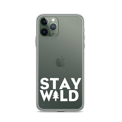 Stay W+ld Transparent Phone Case