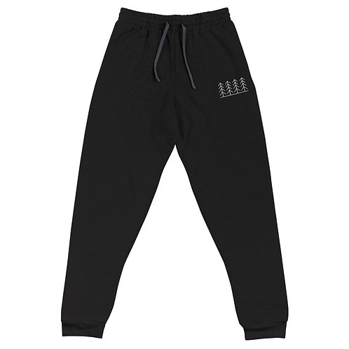 Forest and Fog Treeline Embroidered Unisex Joggers