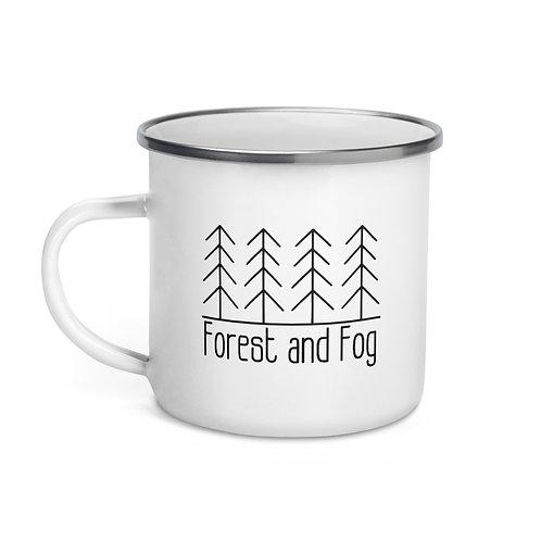 Forest & Fog Logo Camping Mug