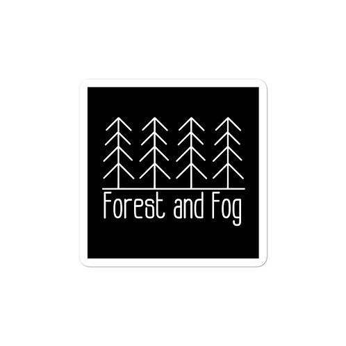 Forest and Fog Sticker