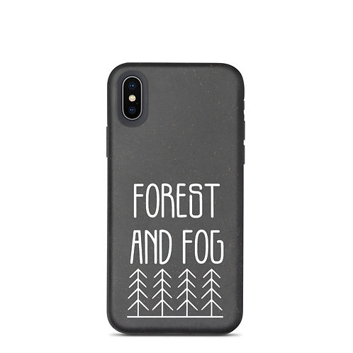 Forest and Fog Treeline Biodegradable Phone Case