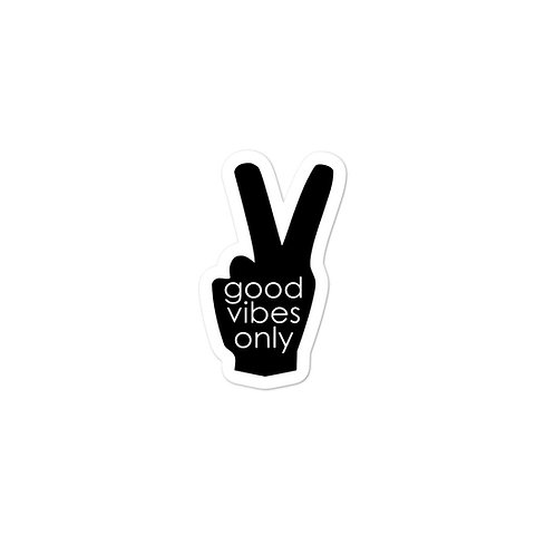 Good Vibes Only Peace Sign Sticker