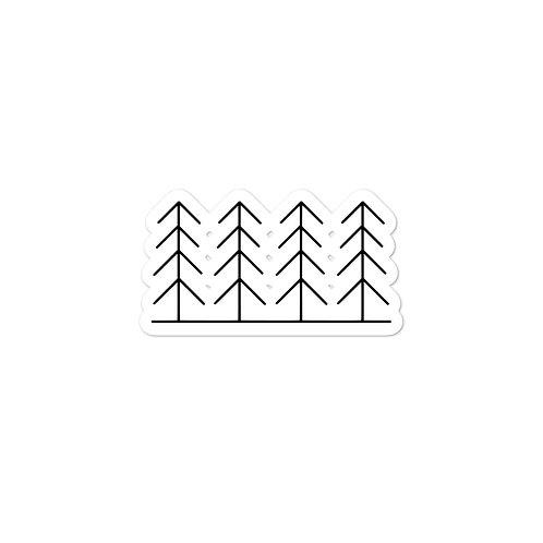 Forest and Fog Treeline Sticker