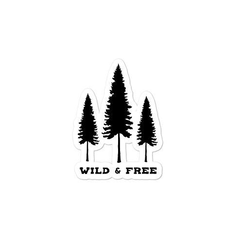 Wild & Free Sticker