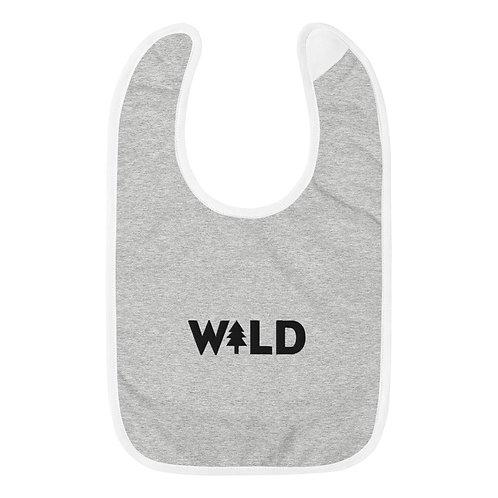 W+LD Embroidered Baby Bib