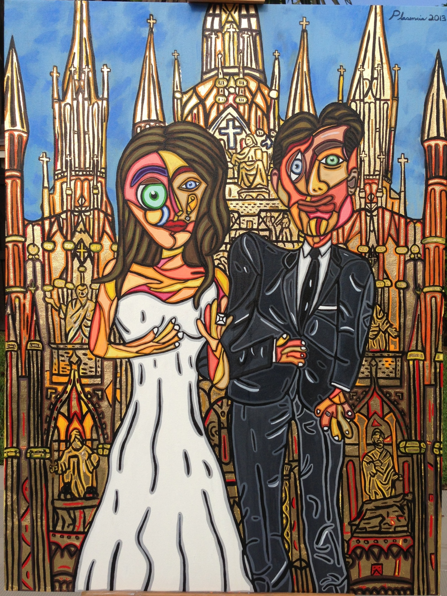"Wedding Day 40"" X 30"""