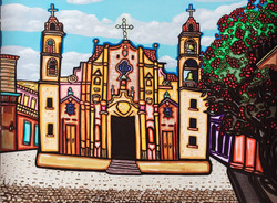 "Havana Cathedral 40""X 30"""
