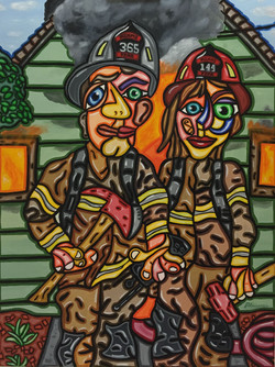 """Willy and Nora 40""""X 30"""""""