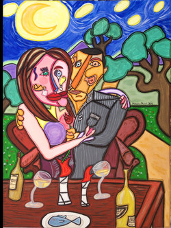 """Dinner for Two 40"""" X 30"""""""
