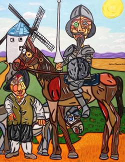 """Don Quixote  48"""" X 36"""""""